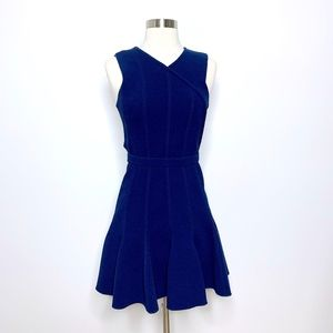 Carven Blue Fit Flare Dress Sleeveless (N16)